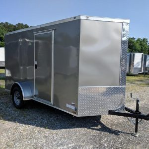 6x12 V Nose Single Axle Enclosed Trailer