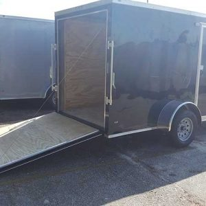 6x14 V Nose Single Axle Enclosed Trailer